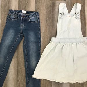 Girls jeans and jean dress